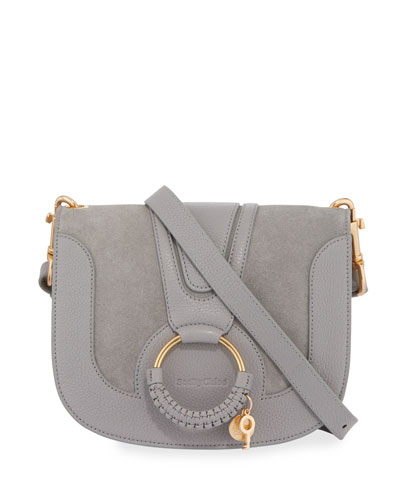 Hana Small Leather Crossbody Bag, Sky