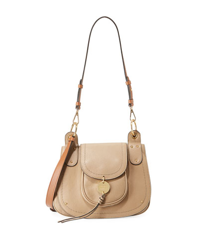 Susie Large Leather Flap Crossbody Bag