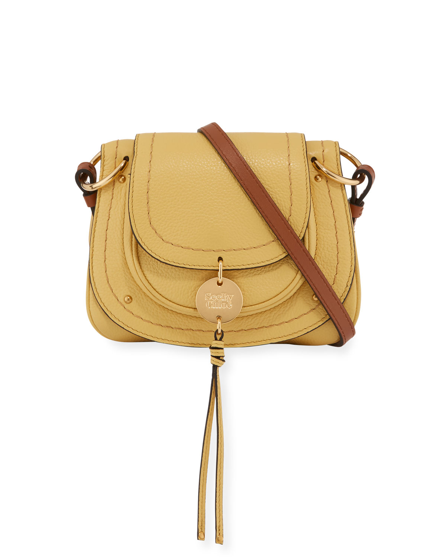 992b26e6 Susie Pebbled Mini Crossbody Bag, Yellow