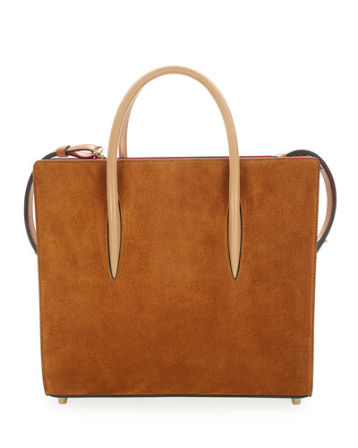 Paloma Medium Loubiwoodstock Suede Tote Bag