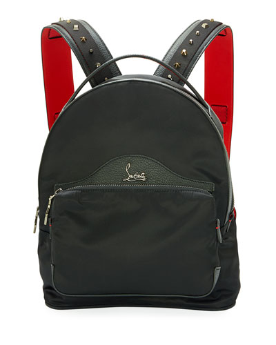 Backloubi Small Nylon Backpack, Black