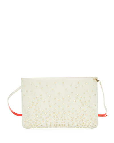 Loubiclutch Calf Paris Spikes Clutch Bag