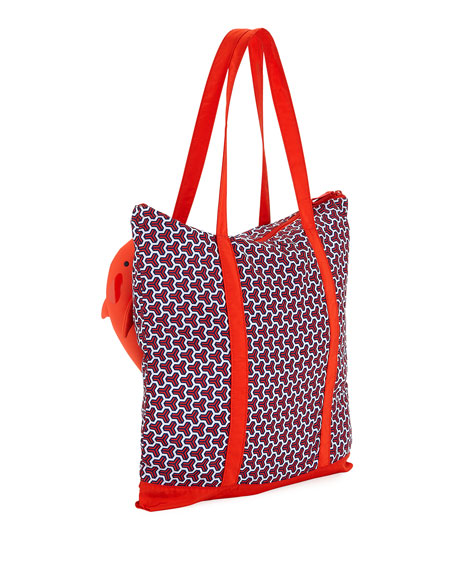 Packable Orca Printed Tote Bag