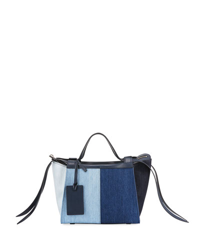 Usonia Medium Patchwork Jeans Tote Bag