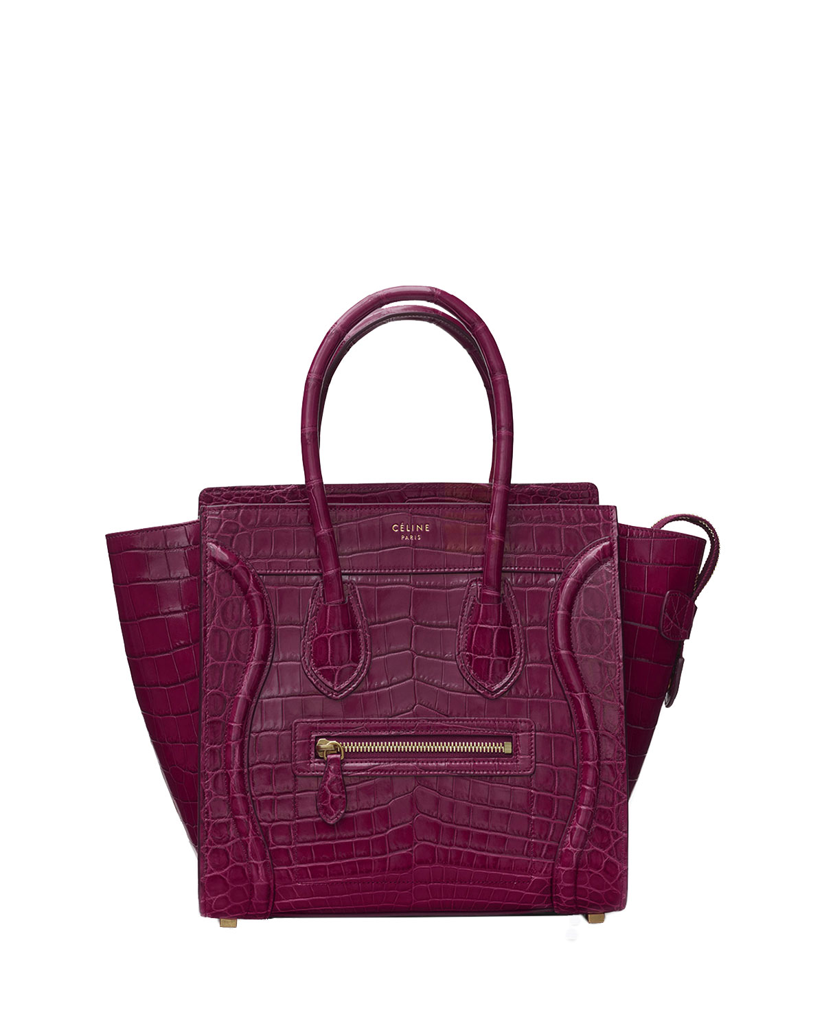 ad403c8189 Celine Luggage Micro Alligator Tote Bag
