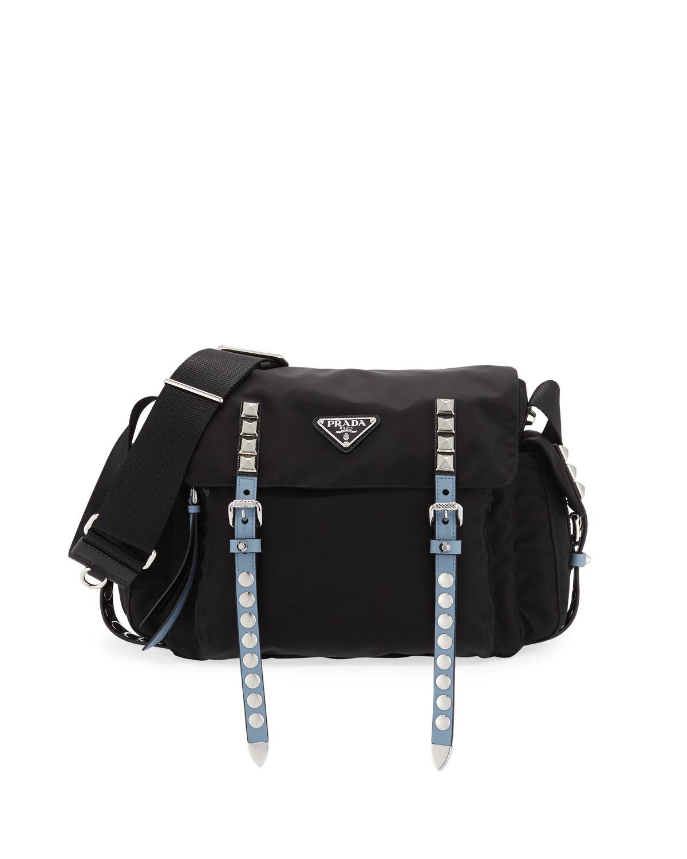 bc8e82172456 best price prada vela small messenger bag black d24b1 6f242; czech quick  look. prada medium nylon messenger bag e9bea de0da