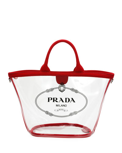 Prada Transparent Plexi Logo Tote Bag