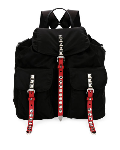 Tessuto Studded Leather Backpack