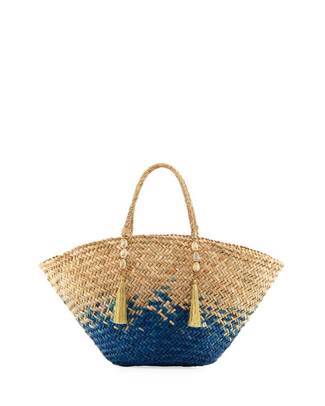 Ipanema Open-Top Straw Beach Tote Bag