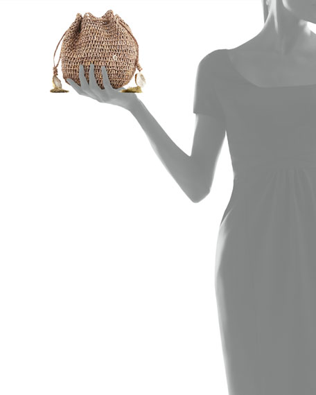 Stintino Small Crochet Beach Clutch Bag