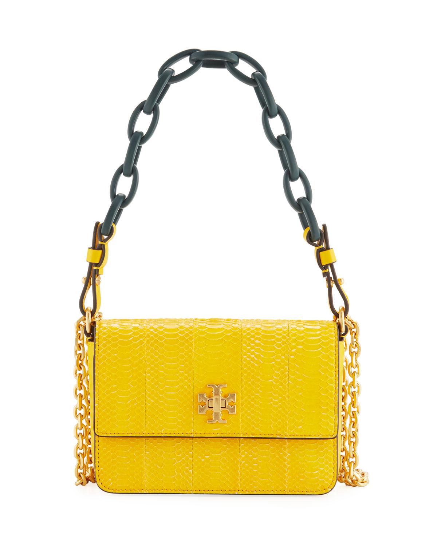 b6a433b4a4c Tory Burch Kira Shiny Snakeskin Mini Shoulder Bag   Neiman Marcus
