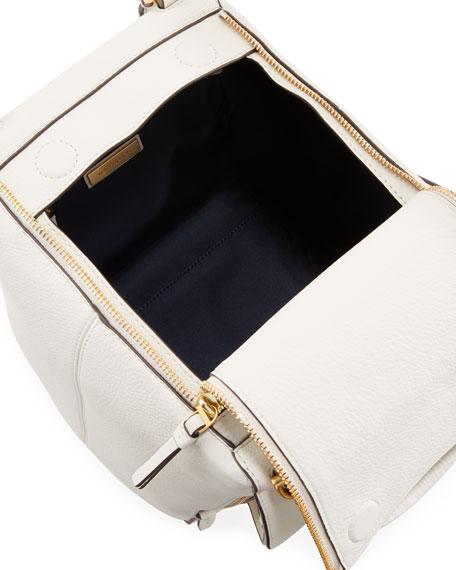 Half-Moon Leather Satchel Bag