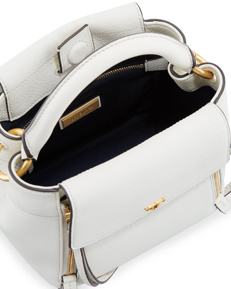 Half-Moon Leather Crossbody Bag