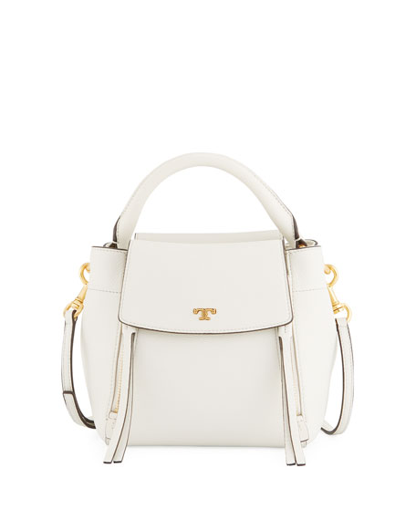 Tory Burch Half-Moon Leather Crossbody Bag