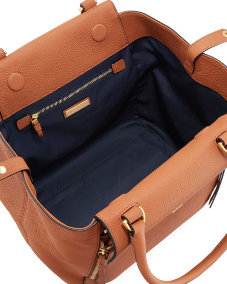 Half-Moon Leather Tote Bag