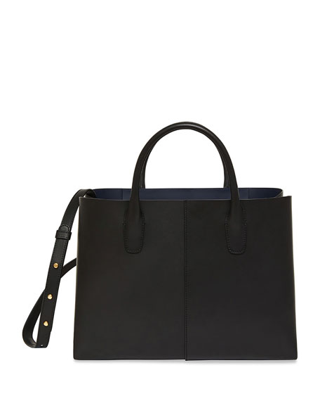 Mansur Gavriel Large Folded Vegetable-Tanned Leather Shoulder Bag