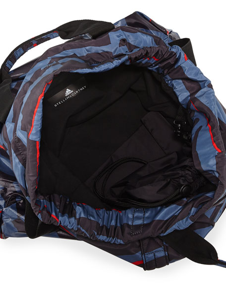 Nylon Striped Gym Bag