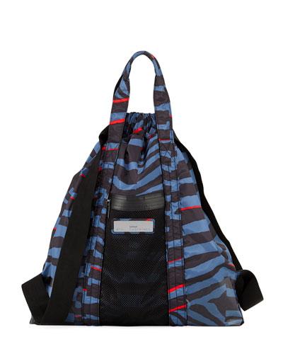 Nylon Striped Gym Bag