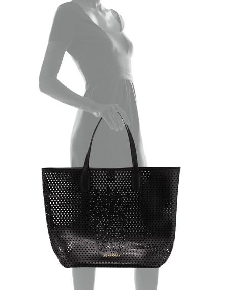 Carried Away Pineapple Vegan-Leather Tote Bag