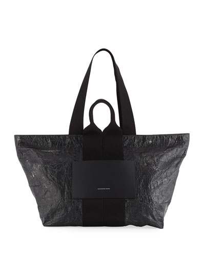 AW Logo Crackled Tote Bag
