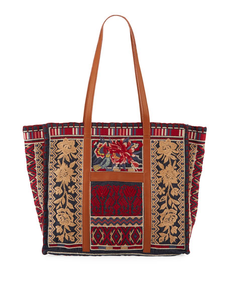 Veronica Market Embroidered Tote Bag