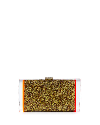 Lara Backlit Acrylic Clutch Bag