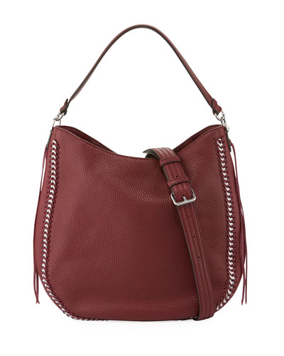 Convertible Pebbled Hobo Bag