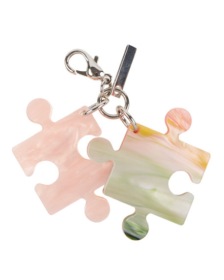 Pearlescent Resin Puzzle Charm