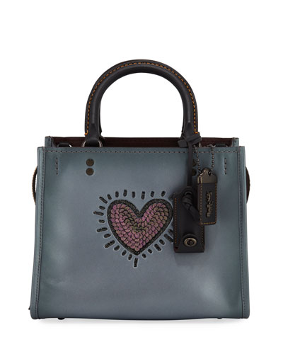 x Keith Haring Rogue 25 Bag with Sequined Heart