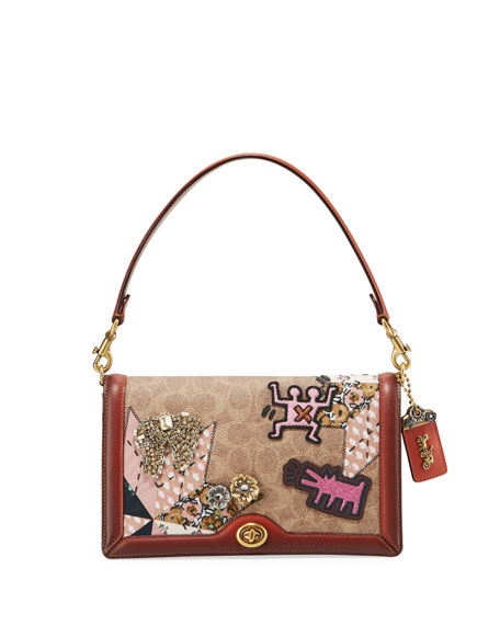 Coach 1941 Coated Canvas Embellished Patchwork Crossbody Bag
