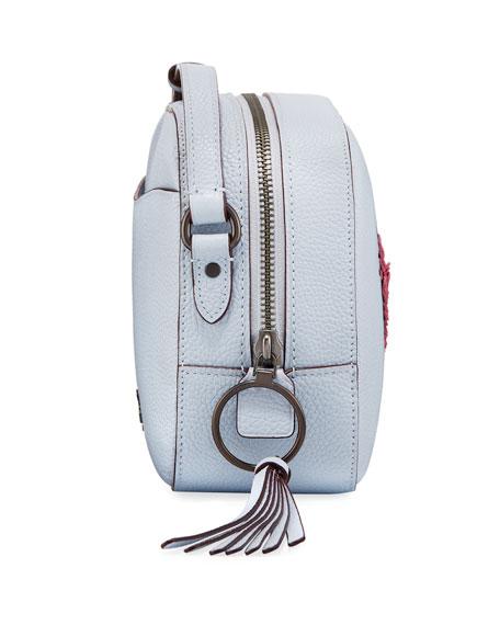 x Keith Haring Sequins Heart Camera Bag