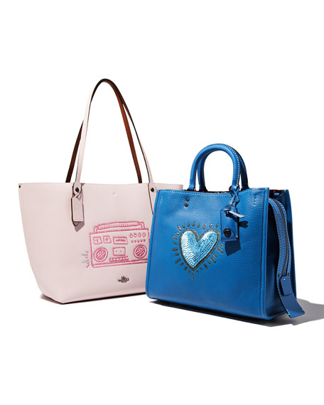 x Keith Haring Rogue Sequin Heart Satchel Bag