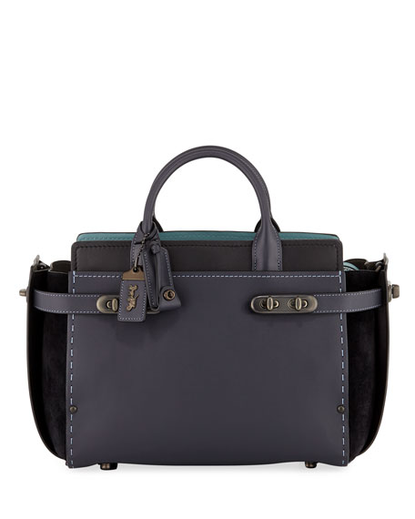 Coach 1941 Swagger 27 Mixed-Leather Satchel Bag