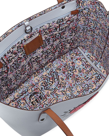 x Keith Haring Sequins Heart Market Tote Bag