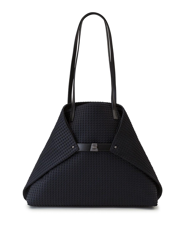 92cf4c371d1 Akris Ai Medium Techno Fabric Shoulder Bag, Black   Neiman Marcus