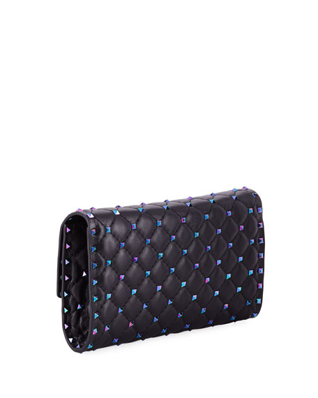Rockstud Spike Shoulder Bag - Oil Slick Hardware