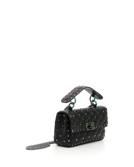 Oil Slick Rockstud Shoulder Bag