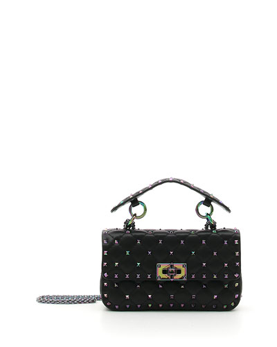 Valentino Garavani Oil Slick Rockstud Shoulder Bag