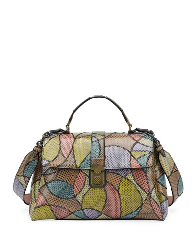 Ayers Patchwork Piazza Shoulder Bag