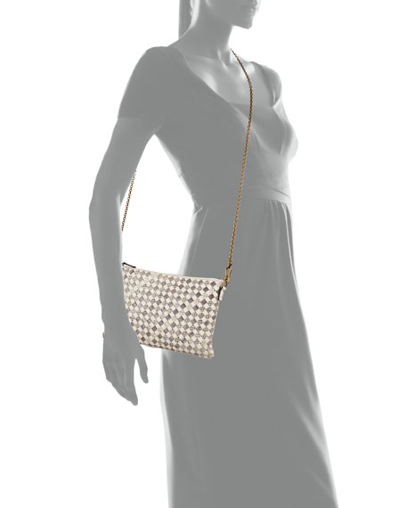 Snakeskin and Leather Crossbody Bag