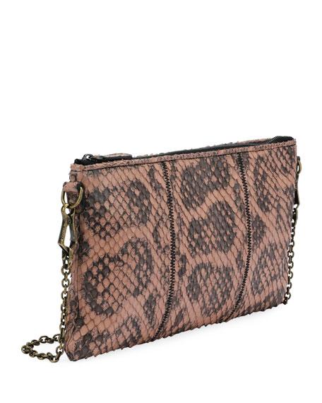 Anaconda Zip-Top Crossbody Bag