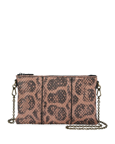 Anaconda Zip-Top Crossbody Bag