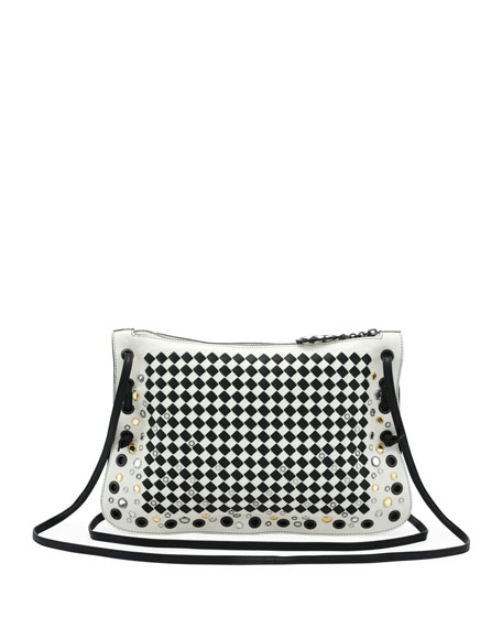 Zip Top <em>Intrecciato</em> Crossbody Bag