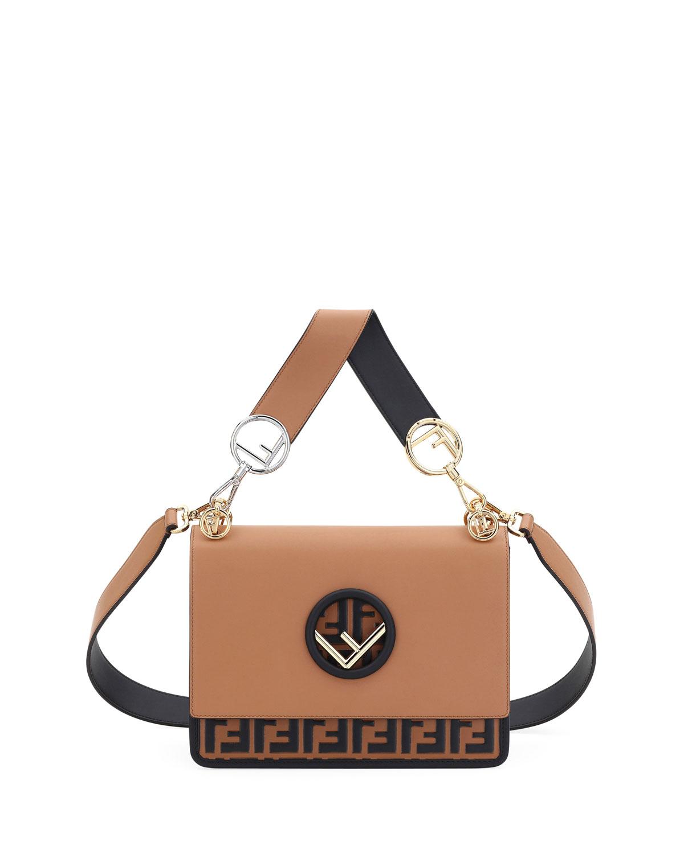 650aae3335c Fendi Kan I Logo Seal Small Shoulder Bag   Neiman Marcus