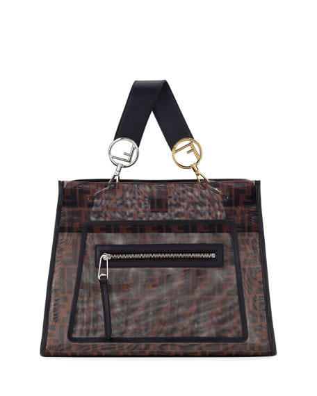Fendi Runaway FF Mesh Shopping Tote Bag