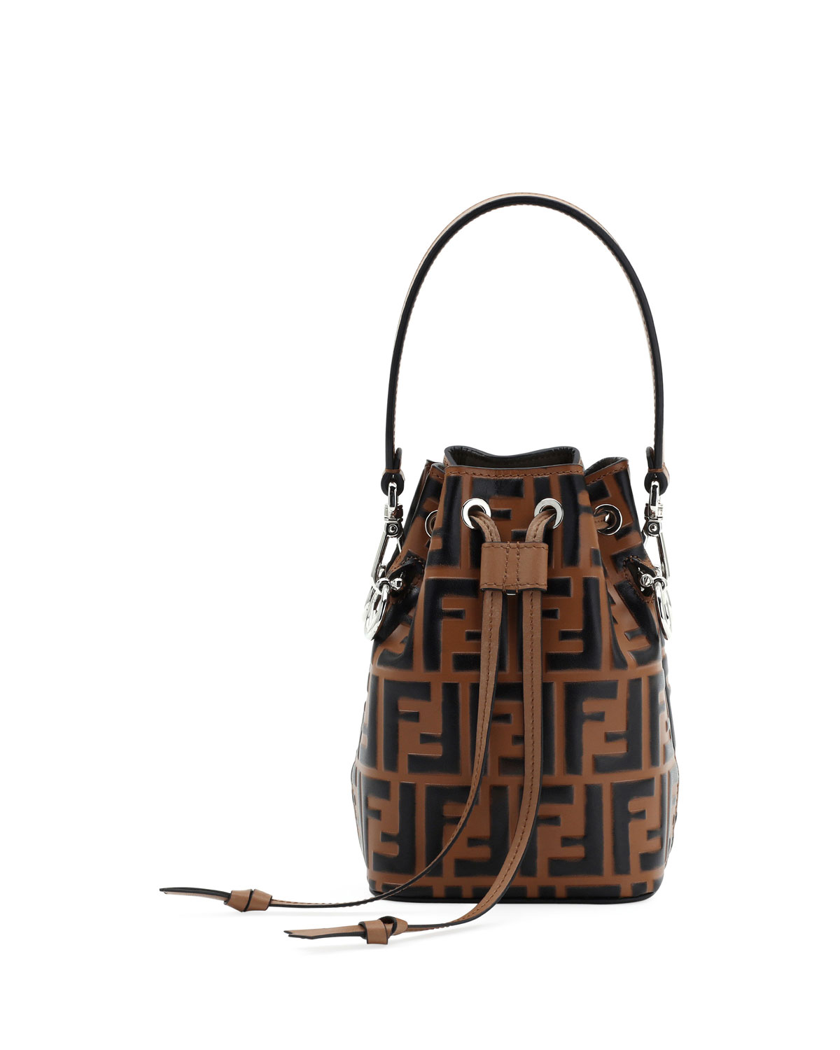 dbf890058c16 Fendi Mon Tresor Small FF Bucket Bag