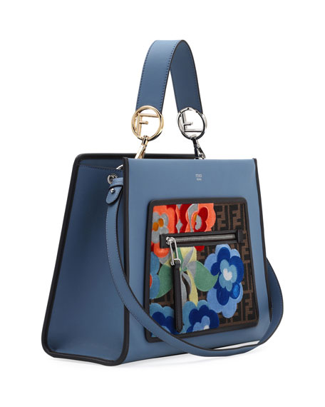 Runaway Regular Embroidered Century Tote Bag, Blue