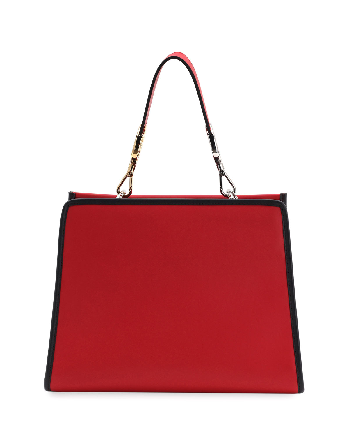 Fendi Runaway Small Embroidered Century Tote Bag, Red