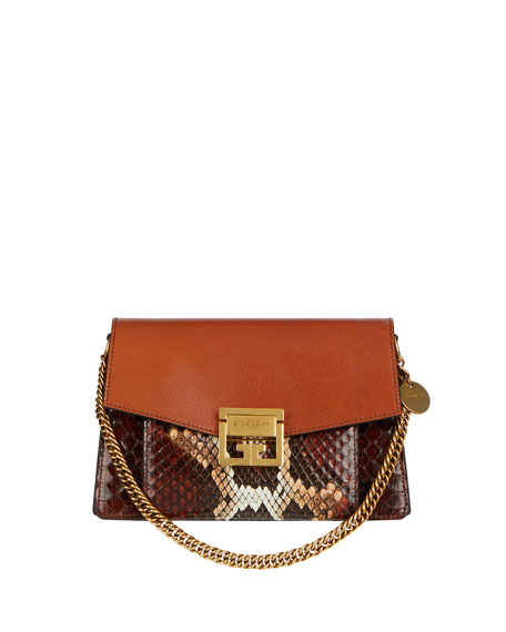 Givenchy GV3 Small Python Crossbody Bag