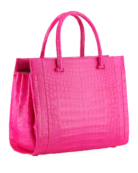 Bolt Large Crocodile Tote Bag